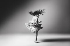 Whirlwind (Jennifer Blakeley) Tags: dance twirl whirlwind child girl studio dramatic monochrome