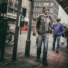 Man (Mark-F) Tags: man hat walking newcastle northeast xf18mmf2r fujifilmxpro1 markymarkf markfreeman markf markfreemanphotogrpahy streetphotography