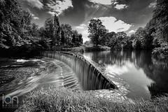 Guyzance Weir (ianbrodie1) Tags: mono guyzance weir water longexposure haida 10 stop nikon d750 blackwhite smooth trees outdoors