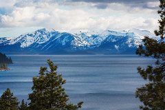 Desolation Mountains from Lake Tahoe (hardaker) Tags: laketahoe clouds cold lake mountains pine ripples scenery shadows snow tahoe tallac travel trees view winter tofb