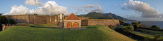 Le fort Delgrs (Livith Muse) Tags: basseterre guadeloupe glp panorama fort montagne nuage mer