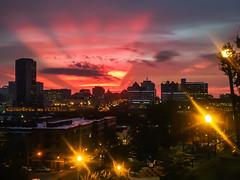 rva sunset (Sky Noir) Tags: sunset sun mobile skyline ma cityscape phone over samsung device richmond galaxy va citylights nexus rva lastrays