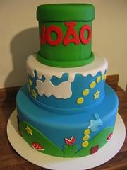 Mario Cake (Confetti & Cupcakes) Tags: cake bar spider cupcakes high mini confetti evento bebê bolo casamento convite festa aniversário chá aranha marmita drika homen monter personalizados novaes gostosos decorados