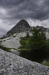 Needle Peak Tarn (Tideline to Alpine Photo, Idiosyncrasy Exemplified) Tags: sky storm mountains clouds hiking alpine granite thunderstorm epic scrambling