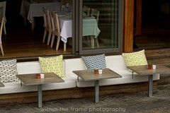 outside seating (WITHIN the FRAME Photography(3.5 Million views tha) Tags: color texture tables seating cushions eos7d