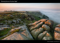 glowing stones of curbar edge (awhyu) Tags: park fog district derbyshire peak national edge inversion curbar