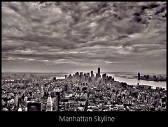 Manhattan Skyline / New York (.. jfraile (OFF busy)) Tags: city nyc bw ny newyork storm blancoynegro skyline clouds manhattan ciudad panoramica nubes tormenta empirestate hdr horizonte nuevayork flickraward mygearandme mygearandmepremium jfraile javierfraile silverlostcontperdidos rememberthatmomentlevel1 rememberthatmomentlevel2 rememberthatmomentlevel3