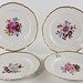 221. Set of (4) KPM Porcelain Botanical Plates