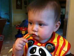 Leo loves asparagus