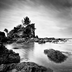 Together we stand (sirman88) Tags: light panorama seascape motion blackwhite interestingness dusk geometry f14 glorious malaysia pointing terengganu promising revisited traveldestinations kemaman buildingexterior pantaikemasik d7000 sirman photographyoutdoors azmanrahman sirman88