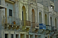 Marsalforn, Gozo, Malta (leslievella64) Tags: street island nikon europe mediterranean d70 nikond70 eu malta leslie balconies maltese streetscape malte gozo marsalforn ghawdex maltais leslievella64