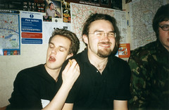 Close friends (Gary Kinsman) Tags: 2002 london film students beer youth fun university personal drink space young can hampstead tooclose hallsofresidence manlove nw3 closefriends kingscollegelondon kcl childshill studentcampus kidderporeavenue hampsteadstudentcampus