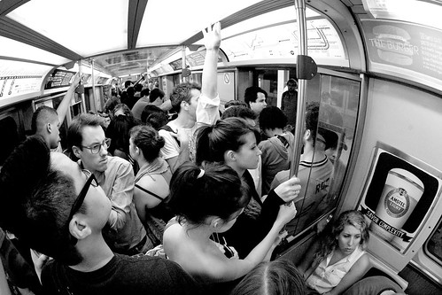 Crowded CTA Train