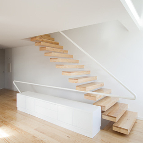 modern floating stair