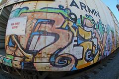 REVOK (KNOWLEDGE IS KING_) Tags: railroad art yard train bench graffiti paint tracks railway socal bomb railfan freight