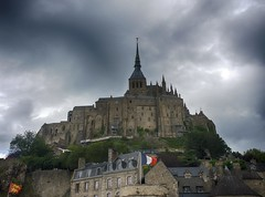 Stormy Sky Above Mont Saint-Michel (A Guy Taking Pictures) Tags: road blue trees light sea wild summer wallpaper sky sun white house storm black france detail castle nature grass saint yellow night contrast