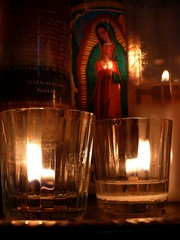 :: SeVeN AfriCaN PoWerS :: (J!bz) Tags: voyage santa trip travel viaje light color travelling luz church glass colors marie night america dark mexico religious noche photo catholic candle maria couleurs ma