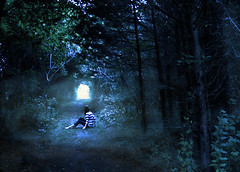 the end (andrea van) Tags: blue light portrait selfportrait self lost woods darkness path tunnel trail wandering jamestown selfie bluetones