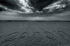 ( ibrahim) Tags: sky sun nature clouds sunrise canon landscape photography sand desert image crescent tokina drought sands  ibrahim abdullah hilux     50d      canon50d   tokina1116mm