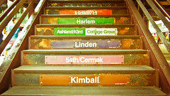 Chicago - August 2012 (nan palmero) Tags: chicago stairs canon illinois rust cta harlem linden steps ps powershot chi ltrain pointandshoot midway ashland pointshoot kimball thel cermak cottagegrove s95