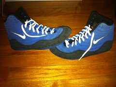 New laces (zackmur12) Tags: blue red black shoe gold shoes wrestling 1996 nike want size og list adidas combat nationals rare fargo 65 speeds greco wrestlingshoe grecos grecosupreme combatants takedowns nikewrestling adizero rulons protactic inflicts footsweeps nikegrecos adizeros