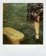 lawn party picnic (snacky.) Tags: nyc party film project polaroid sx70 island 1930s cool picnic dress lawn jazz age instant impossible governors px70