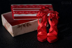Shoes for Monster High (Trotilla) Tags: red shoes dress box handmade frankie 2012 201208 monsterhigh