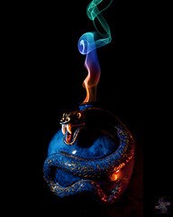 Serpent's Fang (Smoke Art #555) (Psycho_Babble) Tags: abstract smoke serpent incense fang smokeart smokephotography smokephoto smokemanipulation mygearandme creativesmoke