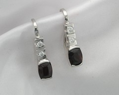 Garnet & diamond earrings #3