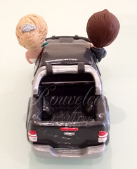 Toyota Hilux Wedding Cake Topper - Back (Rouvelee's Creations) Tags: polymerclay weddingcaketopper figuremodelling brideandgroomcaketopper rouvelee customisedbrideandgroom