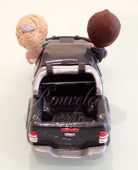 Toyota Hilux Wedding Cake Topper - Back (Rouvelee's Creations) Tags: polymerclay weddingcaketopper figuremodelling brideandgroomcaketopper rouvelee customisedbrideandgroom