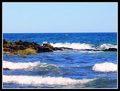 Seascape At York Beach - Photo by STEVEN CHATEAUNEUF - August 29, 2012 (snc145) Tags: ocean sea summer vacation sky seascape beach nature water photography photo rocks waves photos maine cliffs soe wellsbeach flickraward stevenchateauneuf ringexcellence august292012