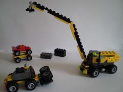 Junkyard (Gabor_Horvath) Tags: car lego crane junkyard forklift 4891