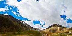 Shadows Of Self At Leh, Ladakh (Pranav Bhasin) Tags: blue sky mountains beautiful clouds river landscape leh breathtaking ladakh northpullu