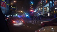 Taillights (jenschuetz) Tags: street nightphotography travel vacation holiday motion blur southeastasia driving traffic malaysia neonlights nightlife kualalumpur aroundtown kl overseas gettinouttadodge