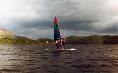 Loch Ard Windsurfing 1985 -86 (Doug_Cook) Tags: water hotel scotland instructors windsurfing loch watersports wetsuits timeshare aberfoyle mistral davidcampbell dougcook centralscotland lochard 19851986 kinlochard lochardforesthillshotelwatersports trossachsclub foresthillshotelkinlochard foresthillstimeshareresort1980s