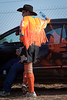cranbourne-4108 (yukkycakes) Tags: orange reflection water bottle clown australia victoria rodeo swishy tassles cranbourne rodeoclown cowobyhat cranbournerodeo