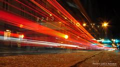Tram Trails (AreKev) Tags: skoda škoda15t škodaforcity multipleunittram 9213 tram red light trails night prague transport company praha bohemia czechrepublic europe europeanunion d90 18105mmf3556g nikon nikond90