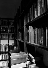 (The New Motive Power) Tags: old shadow sea blackandwhite abandoned night dark fort library military victorian books historic spooky silence isleofwight solent portsmouth fortress derelict shelves nomansland defence stacks canon7d