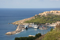Mgarr harbour, the ferry port for Gozo (big.vern81) Tags: ferry port malta gozo mgarr