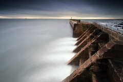 The Gates of Mordor (Stuart Stevenson) Tags: uk sea fence photography grey scotland rocks waves harbour fife windy stormy lotr northsea cinematic tidal crashing breakwater firthofforth pittenweem clydevalley canon1740 harbourwall eastneuk thanksforviewing canon5dmkii stuartstevenson stuartstevenson lookslikemordor