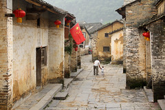 Streets of Huangyao (craigkass) Tags: china street travel asia child grandfather guangxi huangyao ancientvillage