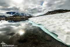 Pond with some late summer snow on Mount Baker (Kris Taeleman) Tags: lake snow ice volcano frozen washington unitedstates glacier mount wildflowers mountbaker northcascades shuksan