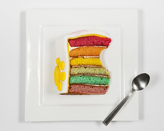 Taste the Rainbow (simon.anderson) Tags: simonanderson strobist birthdaycake colours spoon plate offcameraflash jessops360afd seethroughumbrella pawprint glutenfree yummy layers square tastetherainbow icing marzipan food cream sweet bite yongnuorf602 nikond300s 1685 coeliac