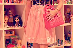 baby pink (girl enchanted) Tags: pink love ikea toys dolls chaos fuchsia oktoberfest shelf collection kenner blythe handbag mattel clutter dior collectibles toyroom rushing expedit dollroom dindrl dollyroom ladydiorbag