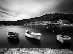 3 (Sergiopr) Tags: sea 3 blancoynegro beach three muelle boat mar blackwhite barcos playa tres