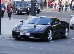 Ferrari F430 F1 (kenjonbro) Tags: uk england black london westminster trafalgarsquare f1 ferrari 2009 coupe charingcross f430 sw1 fujifilmfinepixs100fs kenjonbro 111cl