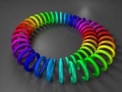 Circle Game (fdecomite) Tags: circle bottle klein math mobius povray