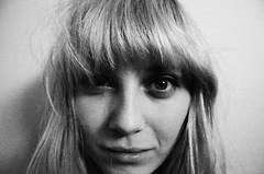 (Linn Koch-Emmery) Tags: portrait white black face eyes lips bangs
