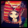 Emma Mount Necklace (EssHaych) Tags: uk art painting manchester doll blythe 2012 iphone bcuk necklance iphonography emmamount blythecon instagram